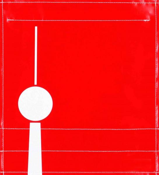 Wechseldeckel für Tasche - Fernsehturm - rot/weiß - Größe M