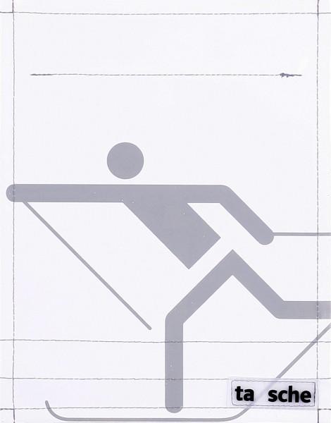 Deckel S - Skifahrer weiß/hellgrau