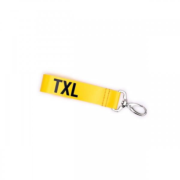 Schlüsselband - LKW-Plane - Wärter - TXL - gelb/schwarz- 1