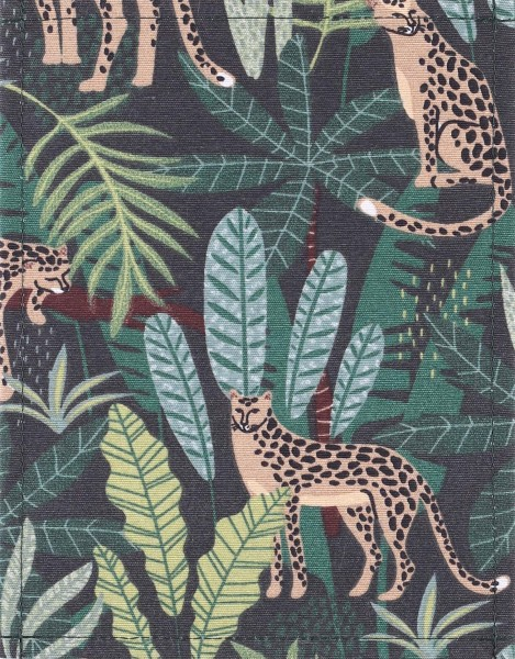 Change cover for bag - jungle- green/beige - size S