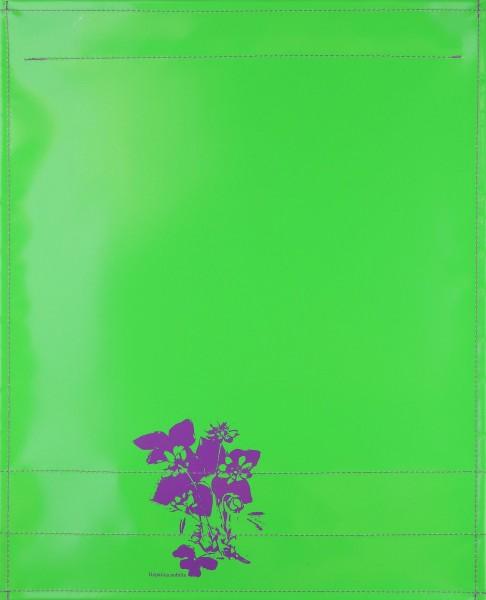 Exchangeable flap for shoulder bag - Hepatica nobilis - green - size L