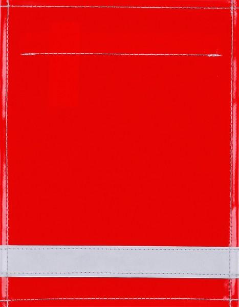 Wechseldeckel für Tasche/Rucksack - Reflektorstreifen - rot - Größe S