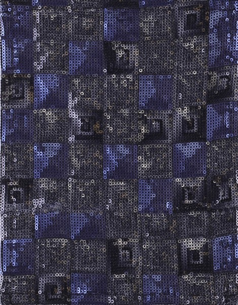 exchangeable flap for bag - sequin peacock - blue/grey - size S