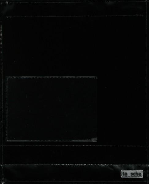 Wechselcover für Umhängetasche - Einsteckfenster - schwarz - Größe L