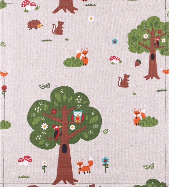 Exchangeable cover for bag - forest fox - beige/multicolored - size M