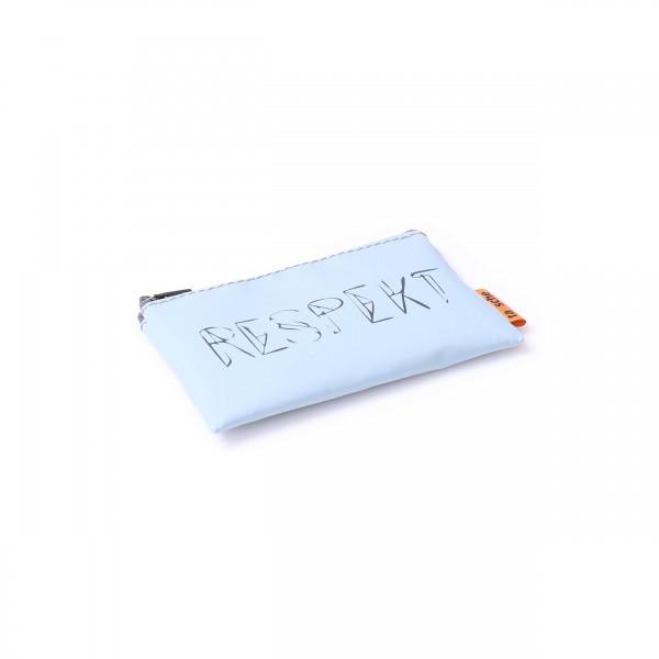 "Credit card pouch - Truck tarpaulin - ""Rascal"" - light blue - 2"