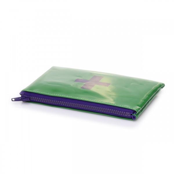 Kulturtäschchen - LKW-Plane - Lebensretter - grün/violett - 1