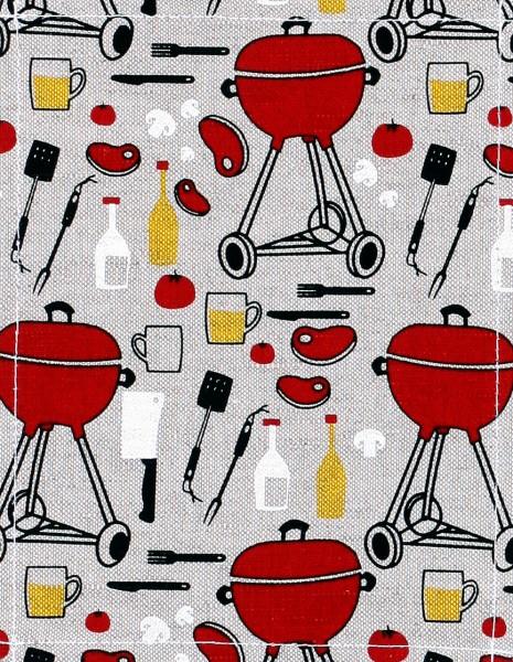Wechselklappe für Tasche - Barbecue - natur/rot - Größe S