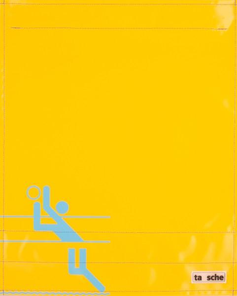 Wechselcover für Kuriertasche - Beachvolleyball - gelb - Größe L