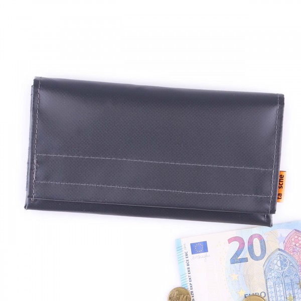 Wallet - truck tarpaulin - millionaire - anthracite - 1