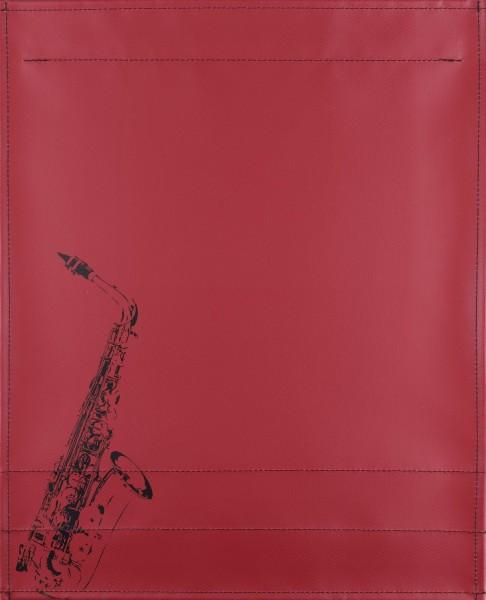 Wechseldeckel für Tasche - Saxophon - burgunder - Größe L