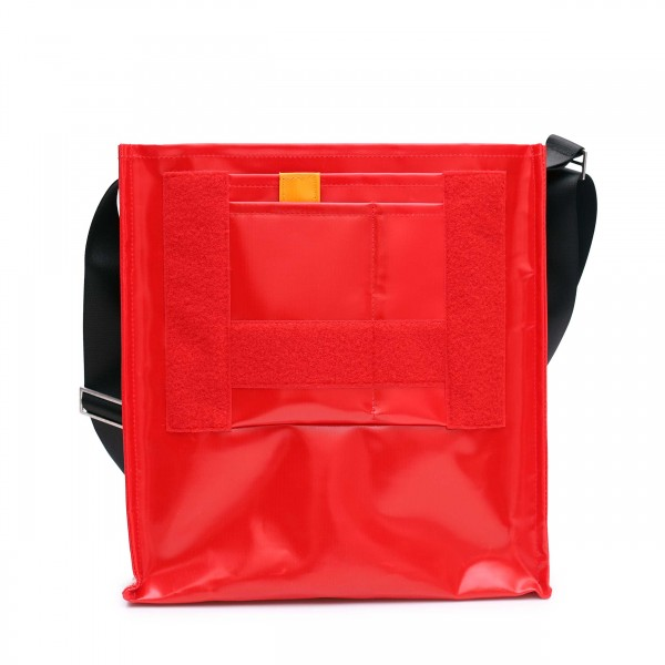 shoulder bag - customizable - tarpaulin - »Diplomatin« (diplomat) - red - 1