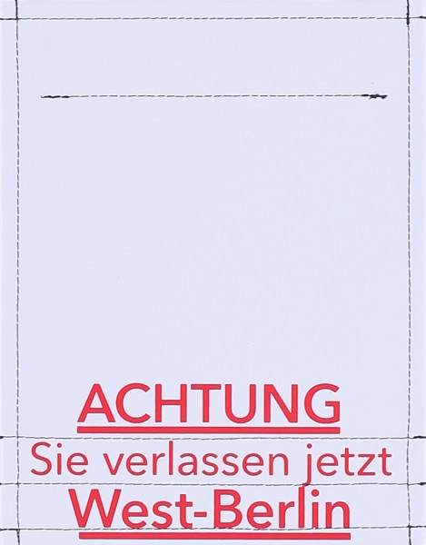 exchangeable flap for bag - Attention West Berlin - grey/red - size S