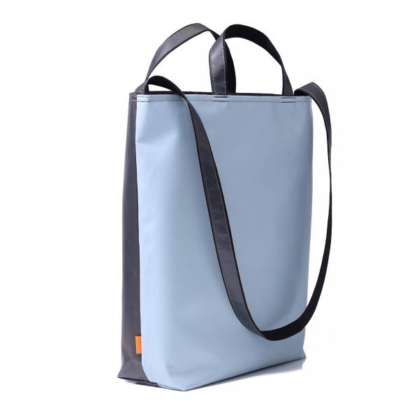 Shopping bag - market crier - truck tarpaulin - light blue/anthracite - 1