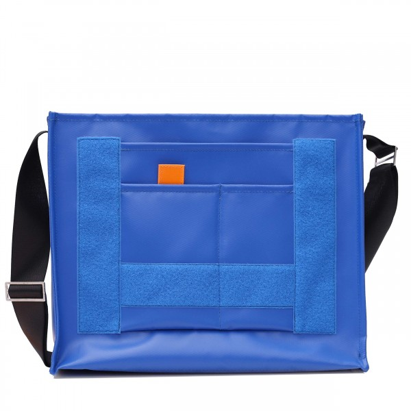 Messenger Bag - mit Wechselklappe - Nomadin - blau matt - 1