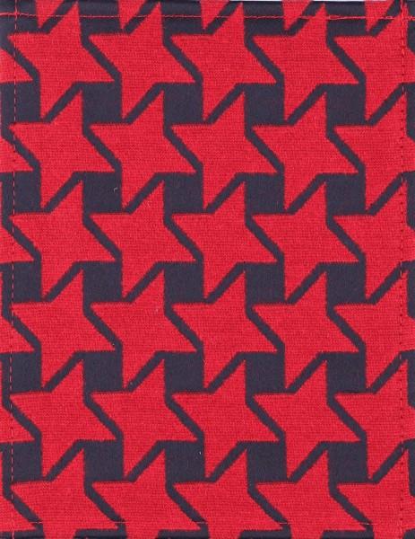 Wechselklappe für Tasche/Rucksack - Stella - rot/schwarz - Größe S