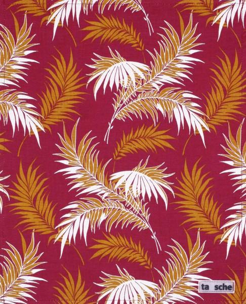 Exchangeable flap for shoulder bag - Palm tree - Olive - Size L