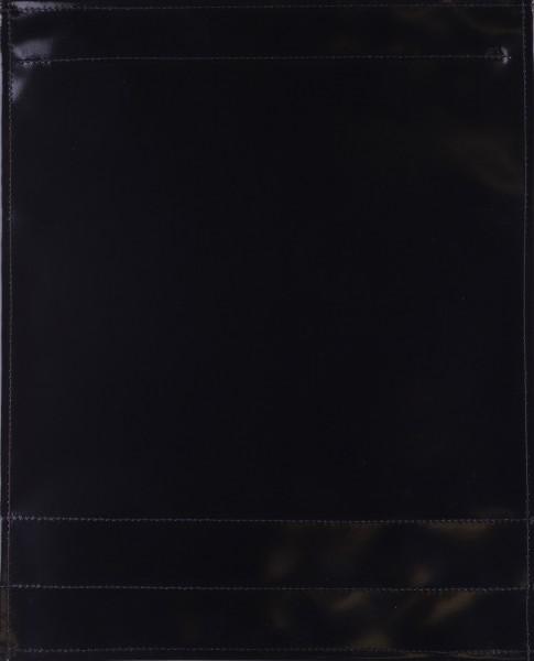 Deckel L - pur schwarz glänzend - Naht schwarz