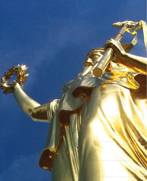 Wechseldeckel für Tasche - Goldelse - Siegessäule - gold - Größe L