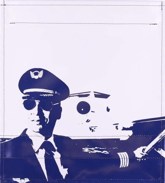 Wechseldeckel für Tasche - Pilot - hellgrau/blau - Größe M
