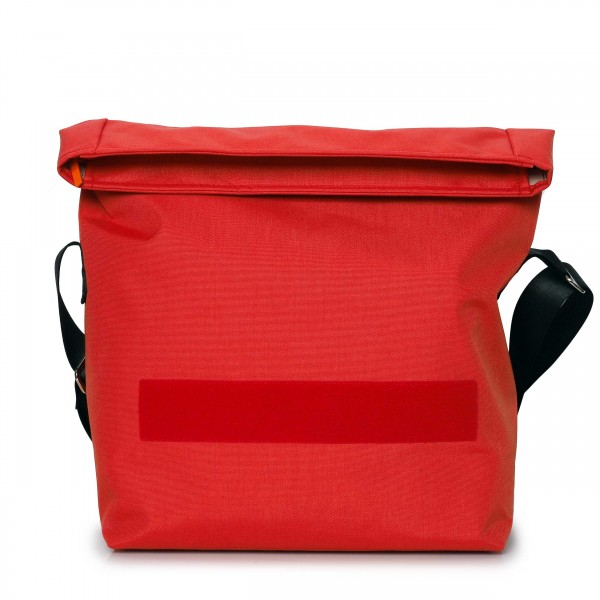 Bicycle bag - exchangeable design - made of Cordura - »Leistungsträgerin« (high performer) - fresh red - 1