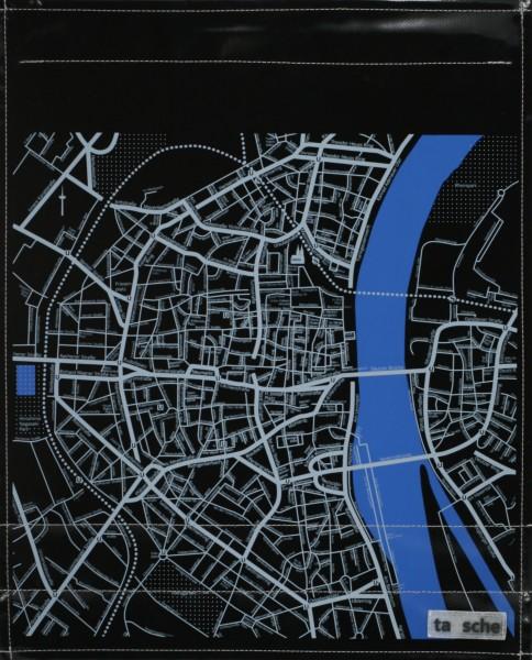 Deckel L - Köln Stadtplan schwarz/grau