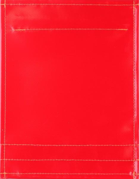 Wechseldeckel für Tasche/Rucksack - pur rot - Größe S