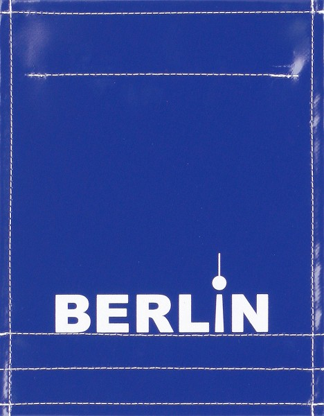 Interchangeable lid for bag/backpack - Berlin - blue/white - size S