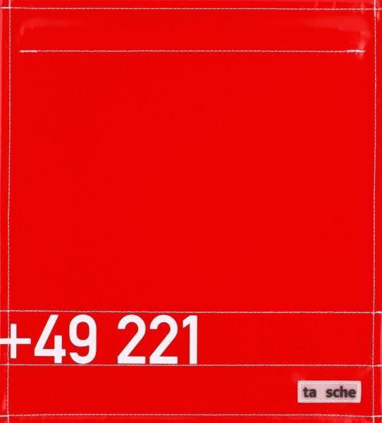 Deckel M - +49 221 rot/weiß