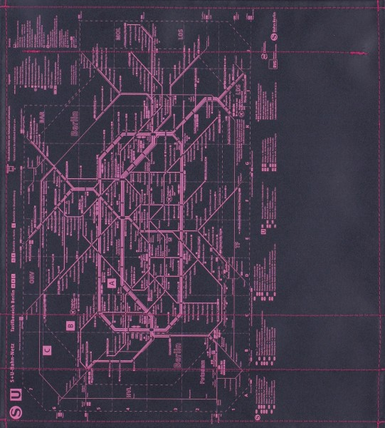 Wechselcover für Tasche - BVG - schwarz/pink - Größe M