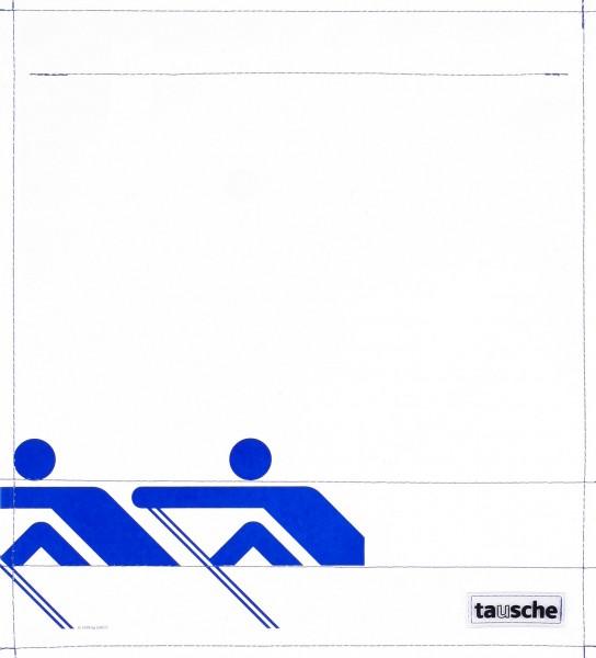 Wechselcover für Rucksack - Ruderer - weiß/blau - Größe M