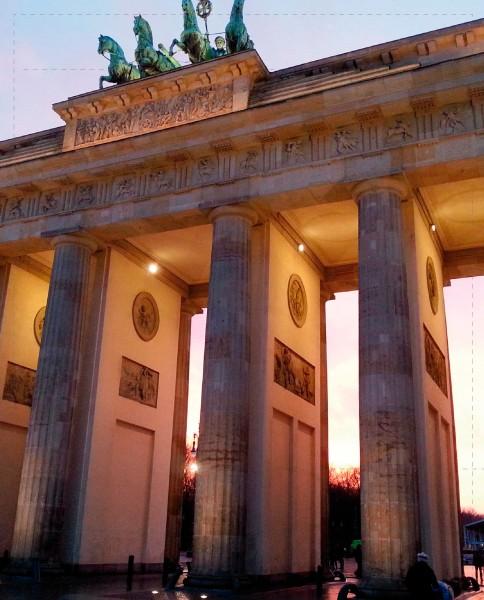 Auswechselbare Hülle für Kuriertasche - Brandenburger Tor - Fotografie - Größe L