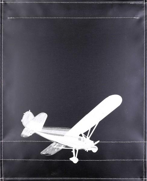 Wechselklappe für Umhängetasche - Hochdecker - Schwarz - Größe L