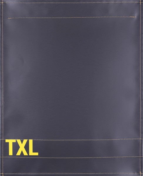Interchangeable cover for bag - TXL - anthracite/yellow - size L