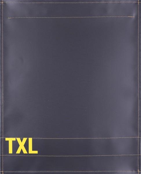 Wechseldeckel für Tasche - TXL - anthrazit/gelb - Größe L