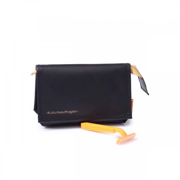 Culture and cosmetic bag - black truck tarpaulin - mirror - 1
