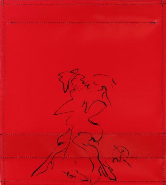 Wechselcover für Umhängetasche - Tango - rot - Größe M