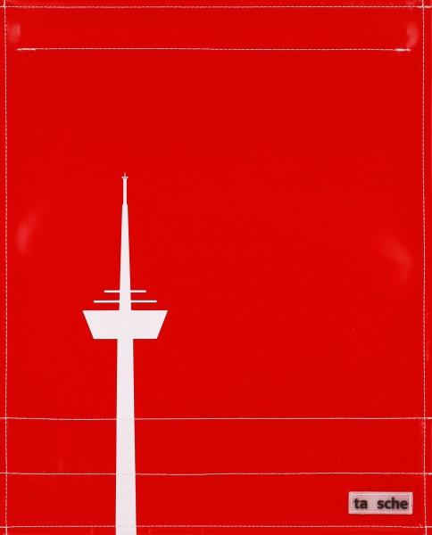 Deckel L - Köln Turm rot/weiß