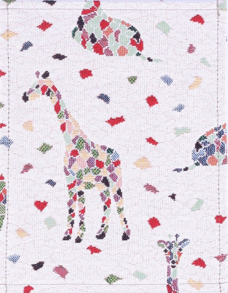 Exchangeable flap for bag - Mosaic Giraffe - natural/coloured - size S