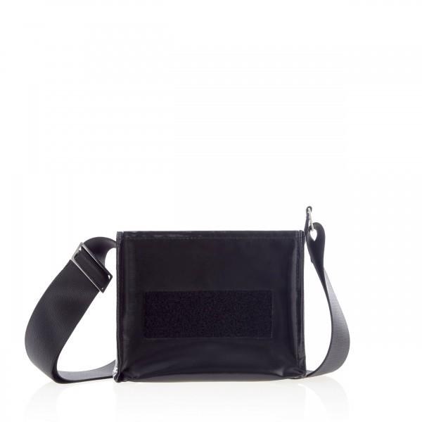 Handbag - with exchangeable flap - night owl - black - 1