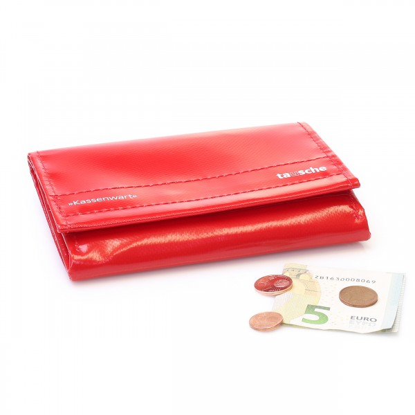 Wallet from red truck tarpaulin