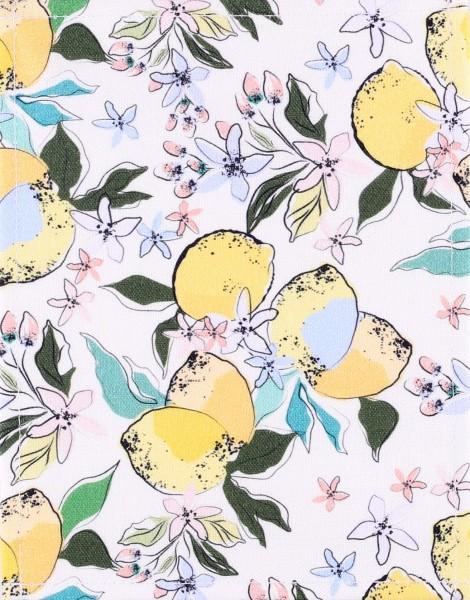 changeable flap for shoulder bag - lemon blossoms - yellow - size S