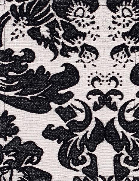 Exchangeable flap for bag - Baroque splendor - cream/black - size S