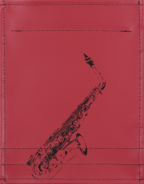 Interchangeable cover for bag - Saxophone - burgundy - size S