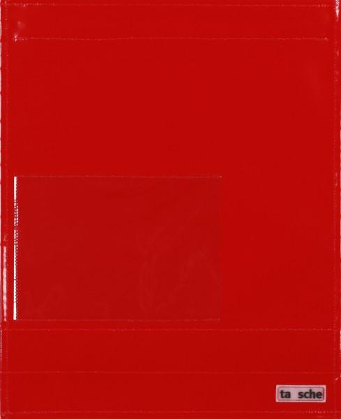 Wechselcover für Kuriertasche - Einsteckfenster - rot - Größe L