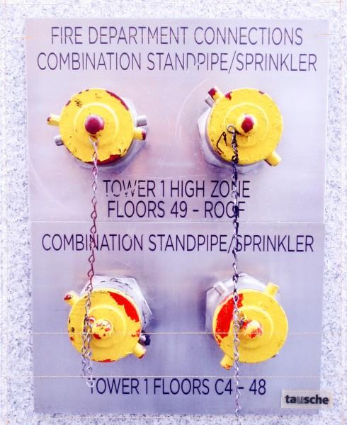 Wechseldeckel für Tasche - Sprinkleranschluss WTC1 - gelb - Größe L