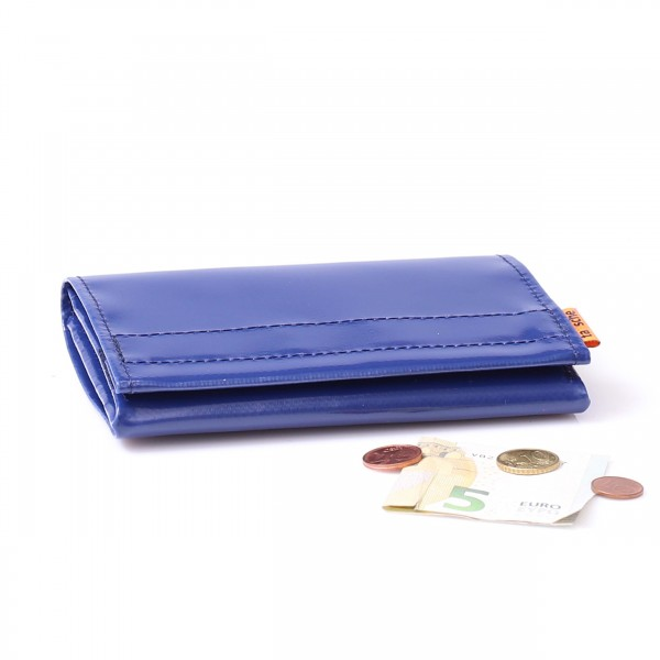 Wallet - truck tarpaulin - dark blue - waiter version - 1