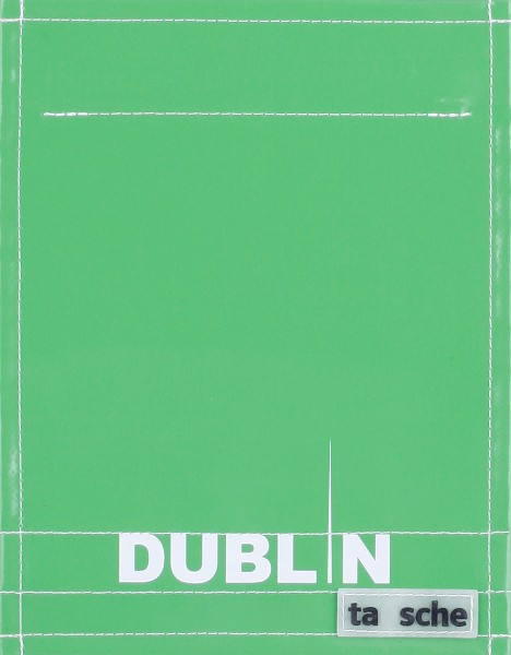 Wechselklappe für Tasche - Dublin - grün/weiß - Größe S
