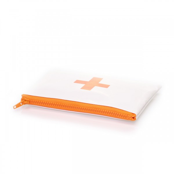 Zip pocket - life saver - truck tarpaulin - white/orange - 1