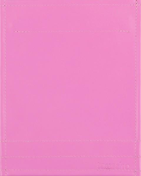 Deckel S - Leder rosa